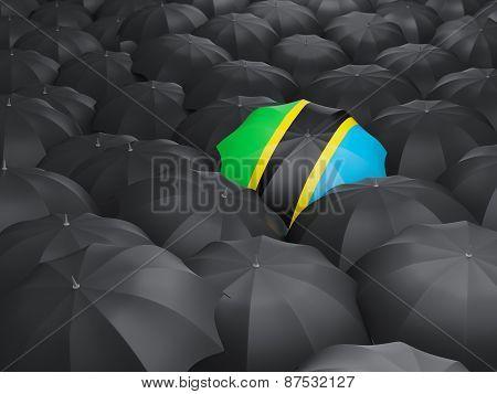 Umbrella With Flag Of Tanzania