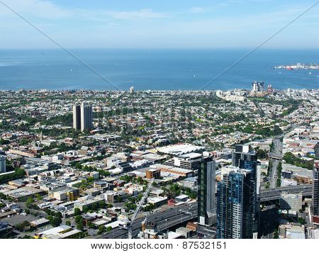 View of the Australian city Melbourne