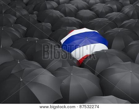 Umbrella With Flag Of Thailand