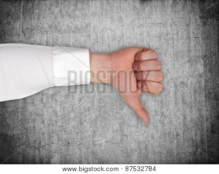 Hand Showing Dislike Sign