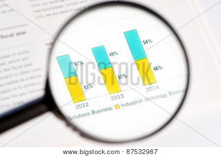 Magnifying Glass And Statistic