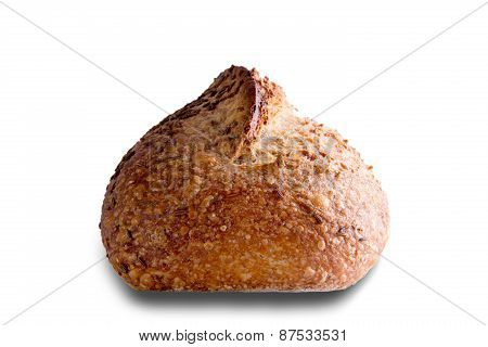 Delicious Rye Bread Isolated On White Background