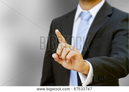 Businessman Using Tactile Interface
