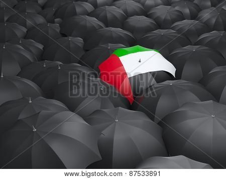 Umbrella With Flag Of United Arab Emirates