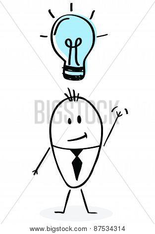Happy Hand Drawn Businessman
