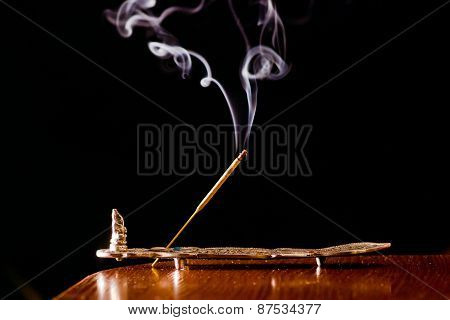 white smoke on a black background