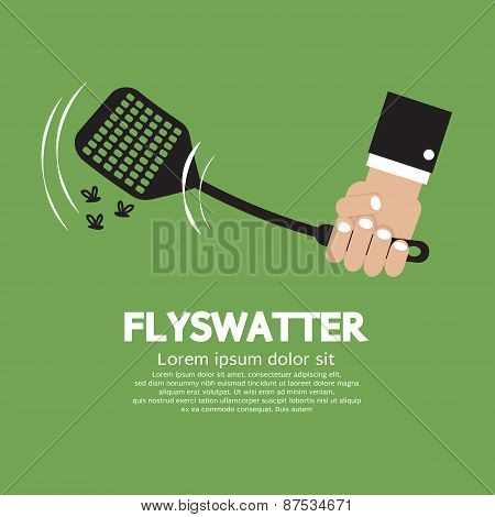 Flyswatter In Hand.
