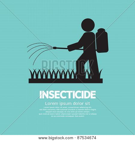 Human Spraying Insecticide.