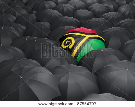 Umbrella With Flag Of Vanuatu