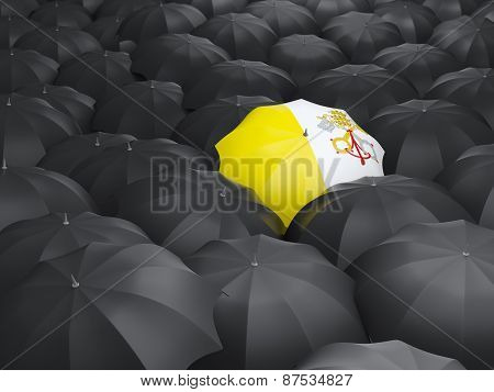 Umbrella With Flag Of Vatican City
