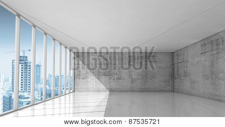 Abstract Architecture, Empty Interior With Concrete Walls