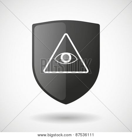 Shield Icon With An All Seeing Eye