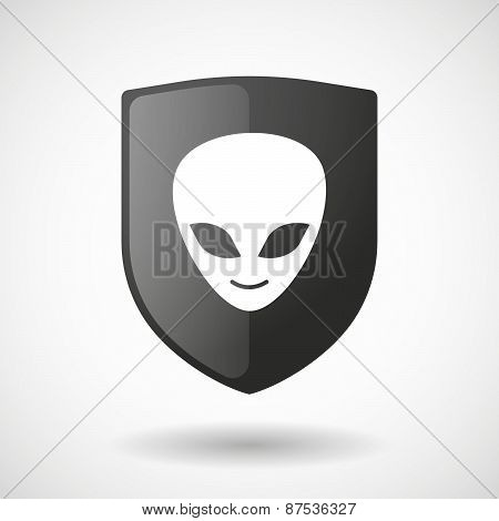 Shield Icon With An Alien Face