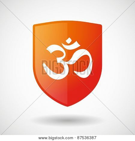 Shield Icon With An Om Sign
