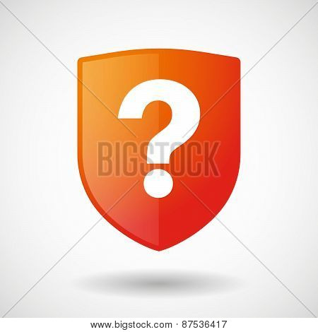 Shield Icon With A Question Sign