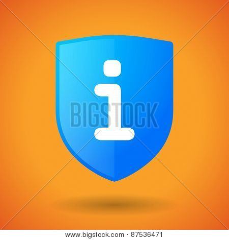 Shield Icon With An Info Sign