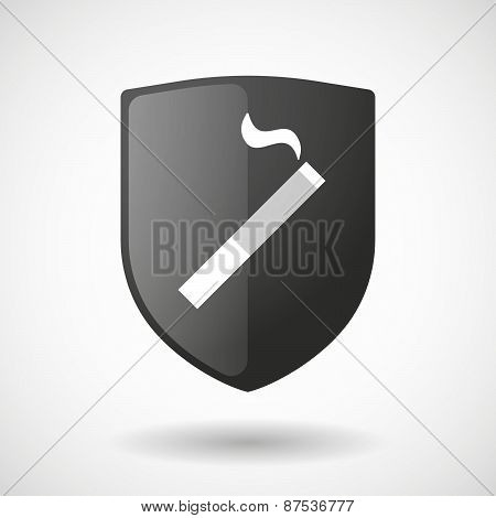 Shield Icon With A Cigarette