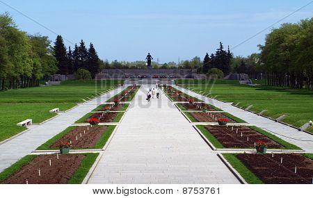 Entrance to memorial park