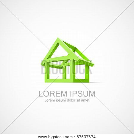 Abstract construction of house