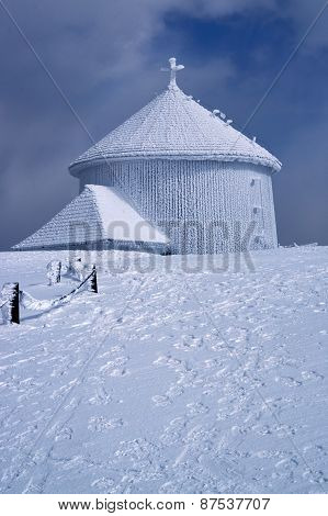 Frosted chapel