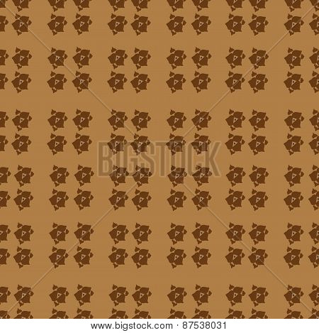 The Pattern In Shades Of Brown