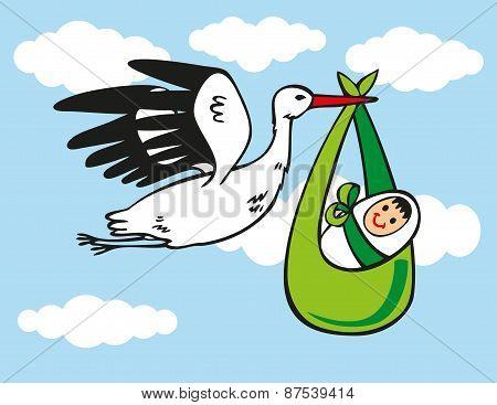 Stork Brings Baby