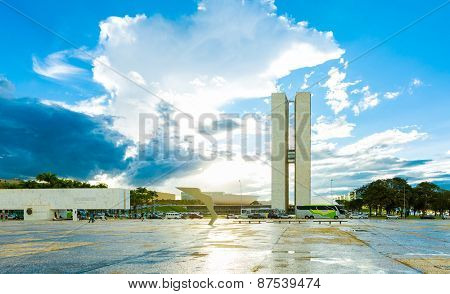 BRASILIA, BRAZIL - CIRCA MARCH 2015: Brasilia, the capital of Brazil.