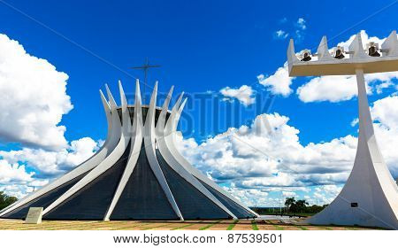 BRASILIA, BRAZIL - CIRCA MARCH 2015: Cathedral of Brasilia, Brazil
