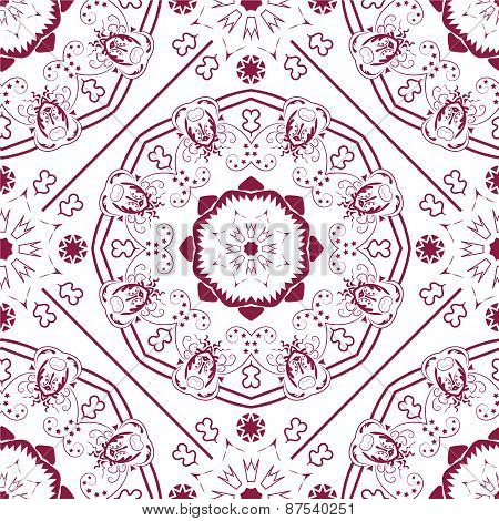 Ladies red ornared pattern.