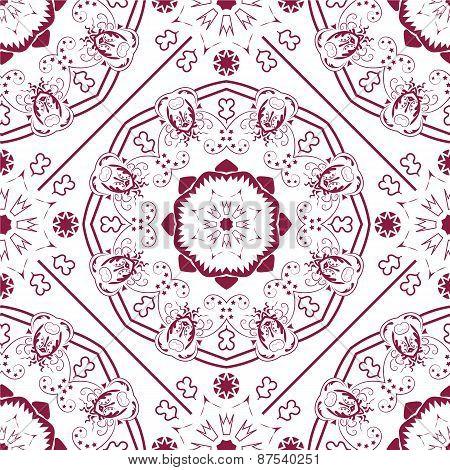 Ladies red ornared pattern.