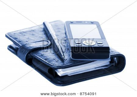 Organizer, Pen And Mobile Phone