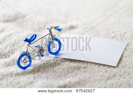 Closeup Figure Bicycle Model With Soft Focus, Vintage Style.
