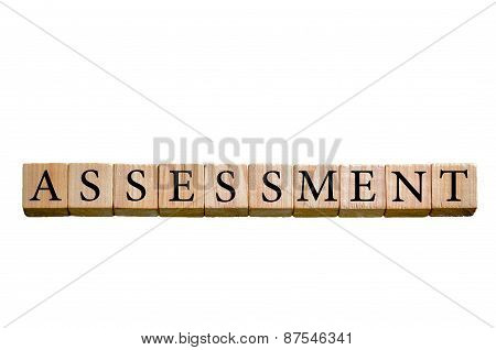 Word Assessment Isolated On White Background