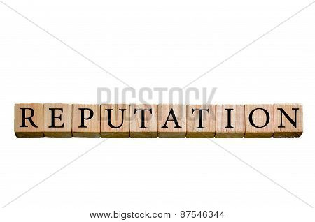 Word Reputation Isolated On White Background