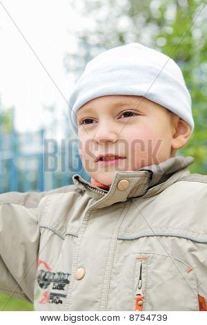 Little  Boy Looking Sideways