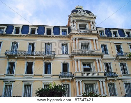 Beaulieu-sur-Mer, France - August 27, 2014: Palais des Anglais on the street 8 May 1945