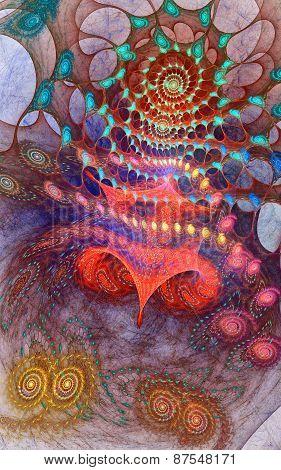 Fractal star spiral background