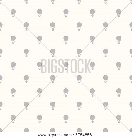 Vintage Seamless Pattern Of Hot Air Balloons