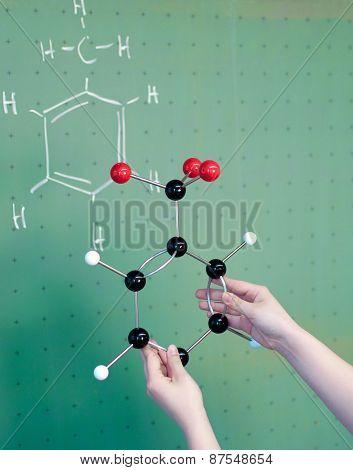 Molecule Model Comparison In A Laboratory