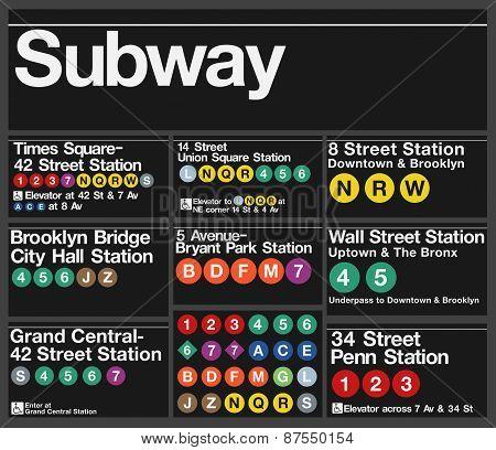 New-York Subway signs