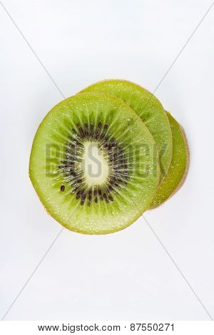 Bird Eye View Of Stack Slice Kiwi Fruit