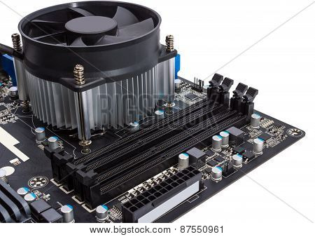 Electronic Collection - Computer Motherboard With Cpu Cooler