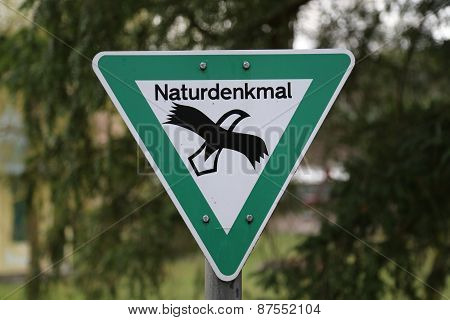Sign natural monument