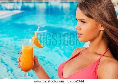 Enjoying Summer By The Pool.