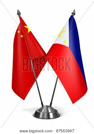 China and Philippines - Miniature Flags.