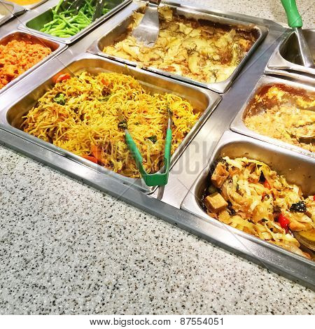 Catering Buffet With Vegetarian Food