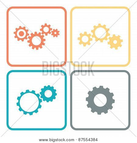 cogwheels and gears Set