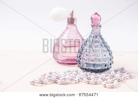 Two glass bottles