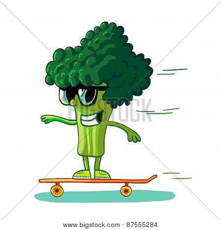 Broccoli Skateborder