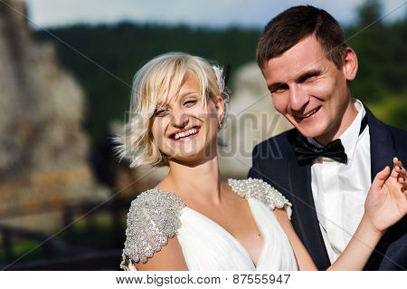 Wedding Couple Dope On The Mountain